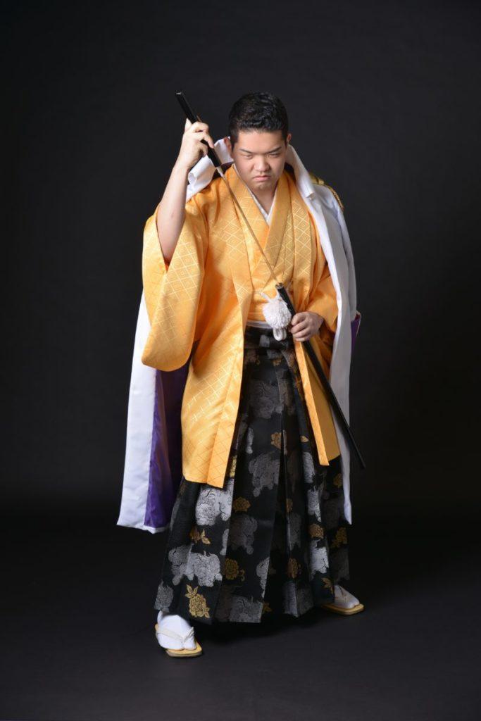 成人式の、男子袴撮影をさせて頂きました♪