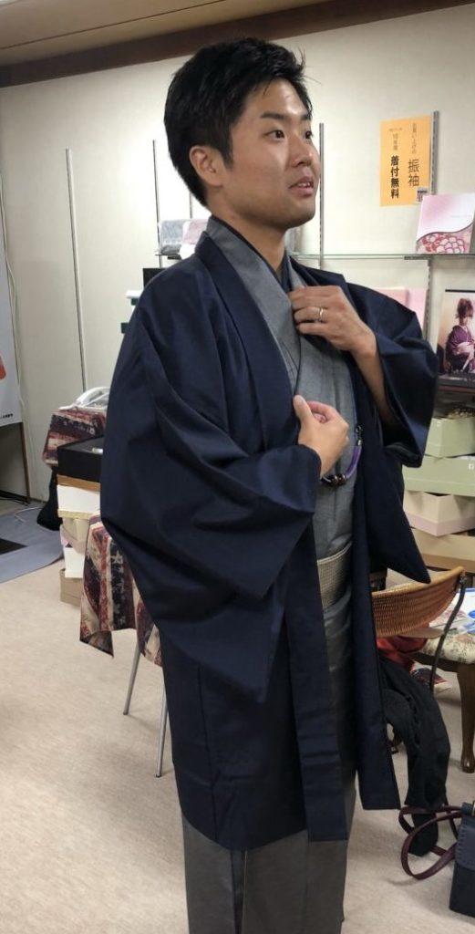 男子着物【着付けのコツ】お教えさせて頂きました!
