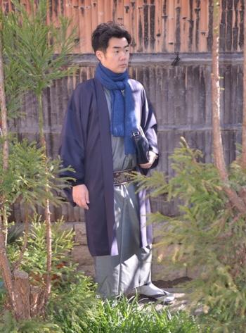 お正月に、着物を着る男性の方へ、寒さ対策ご紹介♪