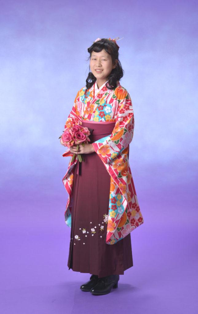 小学生の方の、卒業式袴、記念撮影をさせて頂きました♪