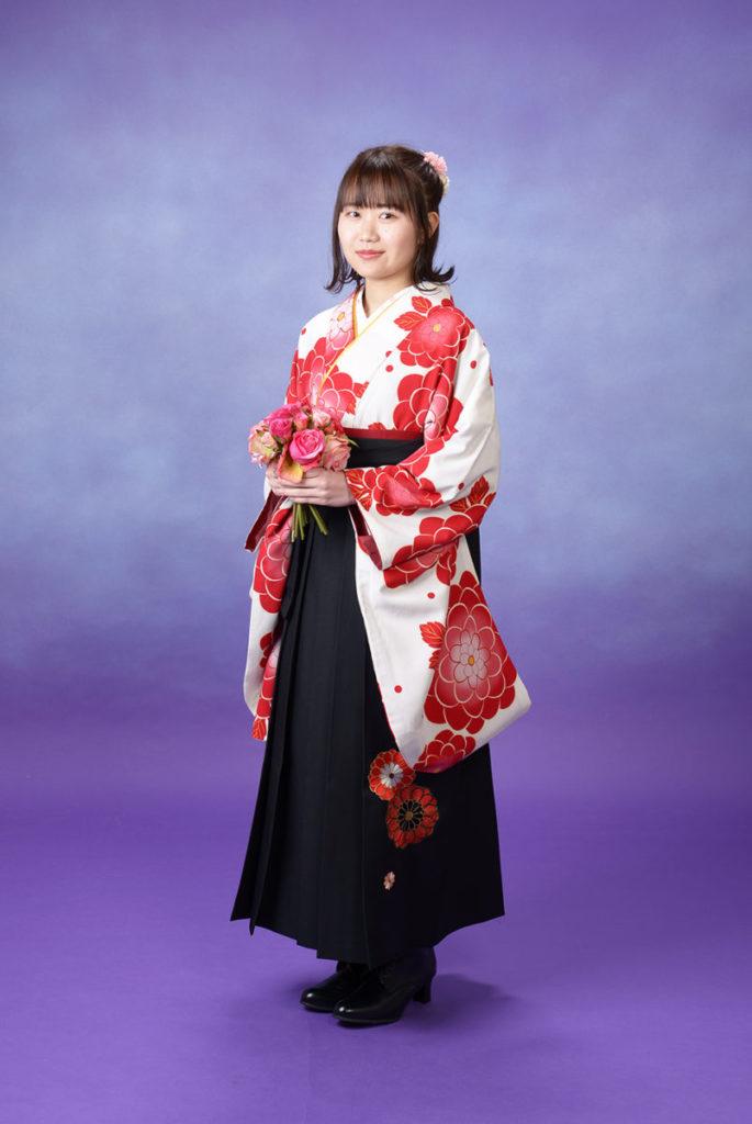 卒業式袴、レトロで可愛い雰囲気で着て頂きました♪