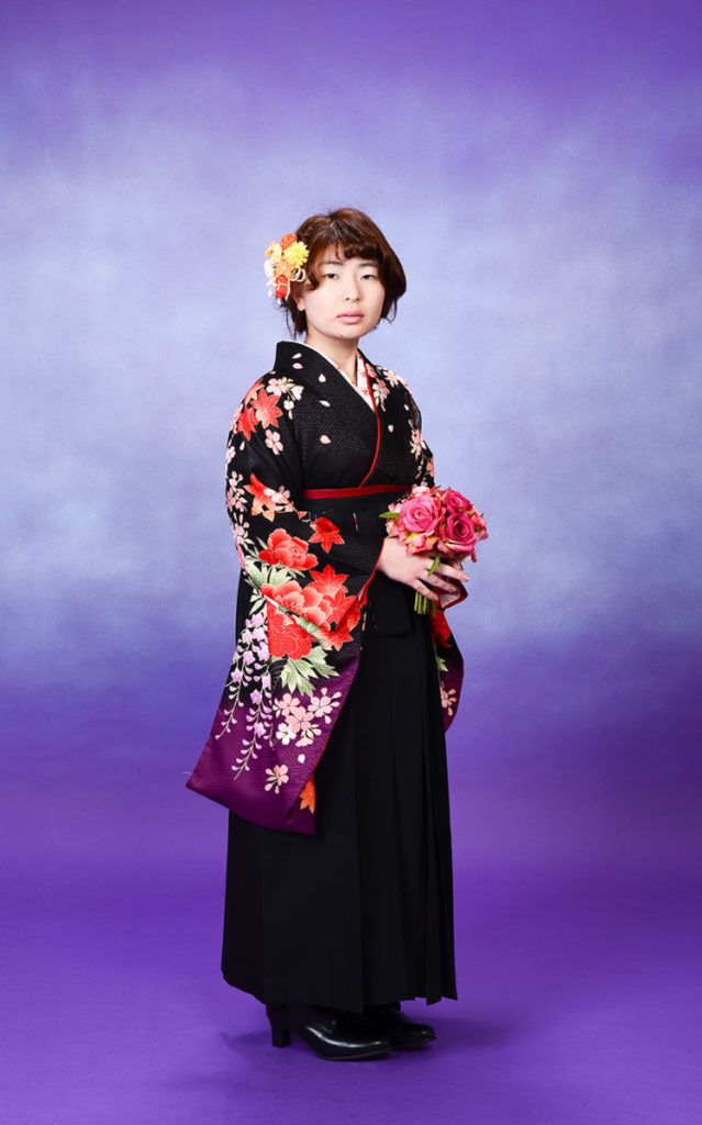 高校、卒業式の袴のお仕度させて頂きました♪