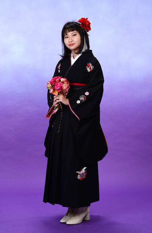 【卒業式 袴】オシャレな黒コーデ♪