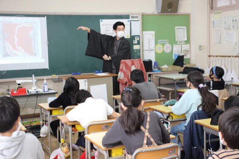 白山小学校さんにて【授業をさせて頂きました!】二子町若旦那会