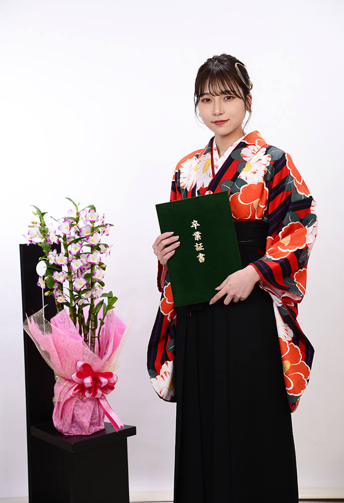 卒業式袴&着物【レトロ柄がとてもオシャレでした♪】