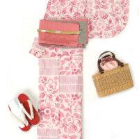 高級浴衣ブランド《そしてゆめ》注染ピンク色